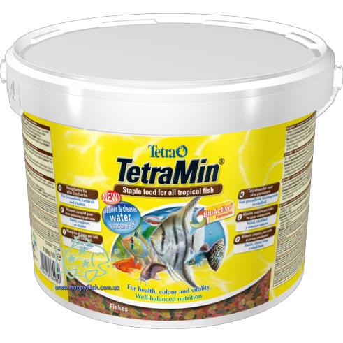 Основной корм для рыб Tetra Min хлопья 10 литров