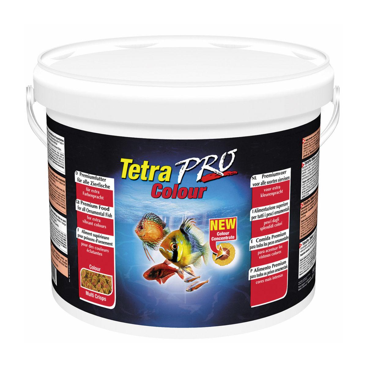 Корм для усиления насыщенности окрасаTetra Pro Color Crisps 10 литров