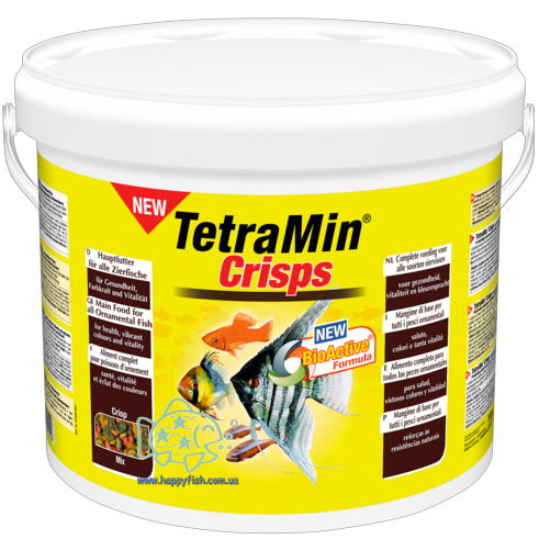 Основной корм для всех видов рыб Tetra Min Pro Crisps 10 литров