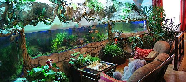 аквариум как часть интерьера