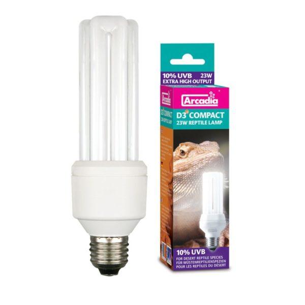 Ультрафиолетовая лампа для рептилий Arcadia Compact 10% UVB